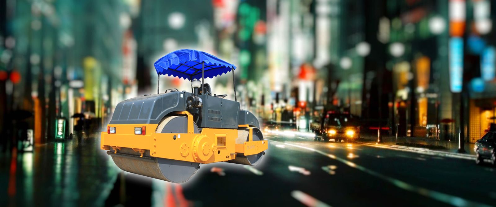 Tandem Road Roller